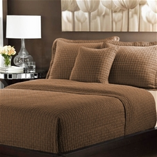 Basket Weave Cotton Coverlet