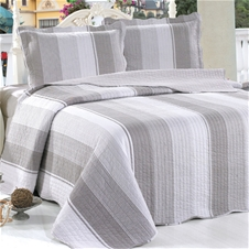 Natural Stripe Coverlet