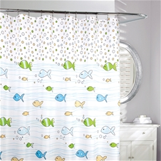 Flow of Fish Shower Curtain