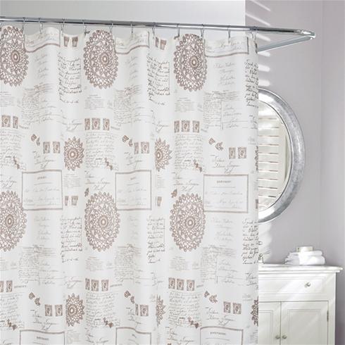 Script Shower Curtain Daniadown Bed Bath Home