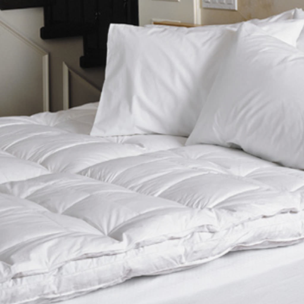 overstock shipping bedding product luxury top free featherbed feather cozyclouds down bath bed downlinens by today