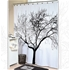 Tree Black Shower Curtain