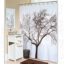 Tree Brown Shower Curtain