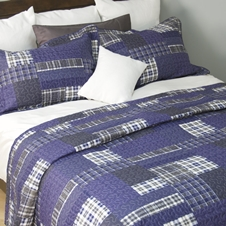 Blue Patch Coverlet