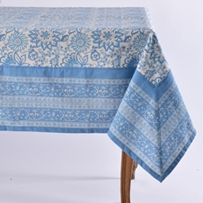 Noori Blue Tablecloth and Napkins