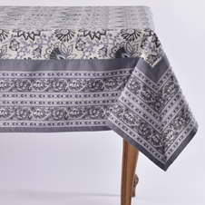 Noori Black Tablecloth and Napkins