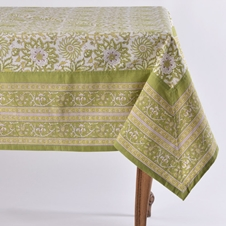Noori Green Tablecloth and Napkins