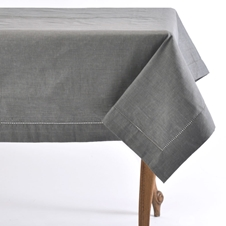 Linen Charcoal Tablecloth and Napkins