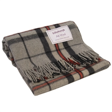 Thompson Grey Wool Throw