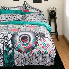 Black & White Floral Bedding