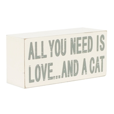 Block Art - All you need Cat