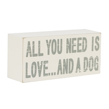 Block Art - All you need .. Dog