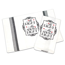 Mr and Mrs Tea Towels