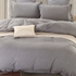 7 pc - Twin XL Grey Chambray  Dorm Set