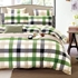 7 pc - Twin XL Fresh Plaid Dorm Set
