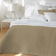 Riley Pebble Cotton Coverlet