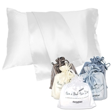 King Satin Pillowcases- Have a Great Hair Day -  (2pc)