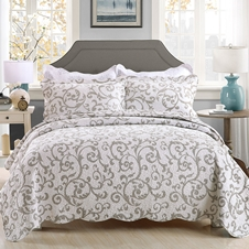 Scroll Cotton Coverlet Set