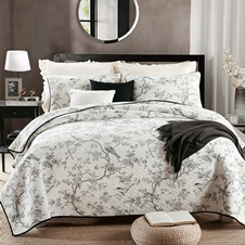 Toile Cotton Coverlet Set