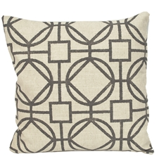 Grey Grid Cushion