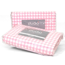 Pink Gingham Bedding - Twin