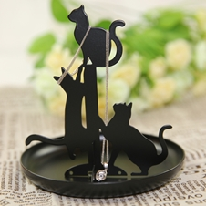 Black Cats Jewelry Stand
