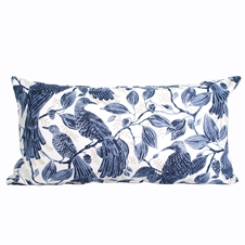 Birds in Blue Cushion
