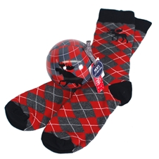Men's  Moose Grey Argyle (Sock in a Ball)