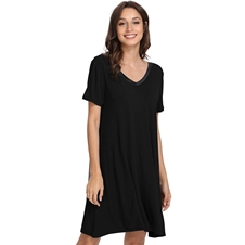 Black Bamboo Sleepshirt