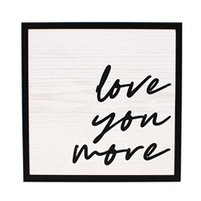 Block Art - love you more