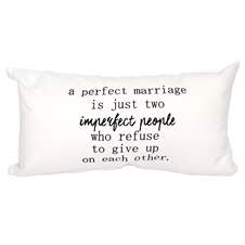 Imperfect People Marriage Cushion