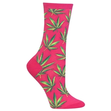 Marijuana Socks Pink (womeen's)