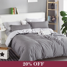 Denver Pinstripe Duvet Cover Set