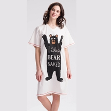 I Sleep Bear Naked Nightshirt
