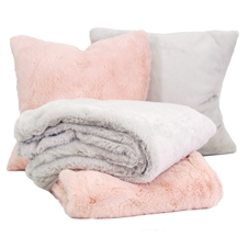 Faux Rabbit Fur Cushions and Throws