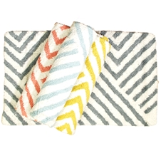 Zig Zag Cotton Bath Mat