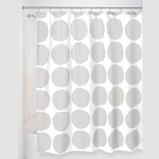 Grey Circles Shower Curtain