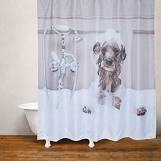 Dog Bath Shower Curtain