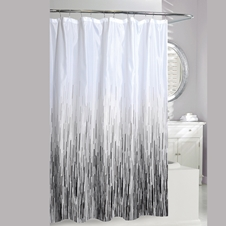 Greyscale Rain Shower Curtain