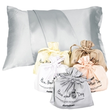 Std/Queen Satin Pillowcase - Have a Great Hair Day (2pc)