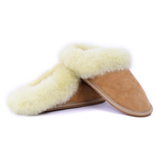Sheepskin Slippers w Fur by Yoko Wool
