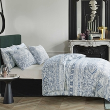 Jasmine Cotton Linen Duvet Cover Set