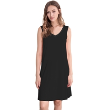 Black Bamboo Nightdress