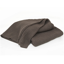 Hollyburn Taupe Knitted Throw